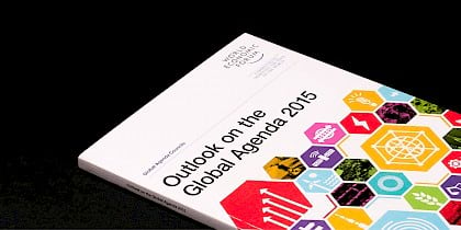 World Economic Forum: Outlook on the Global Agenda report by Human After All design agency