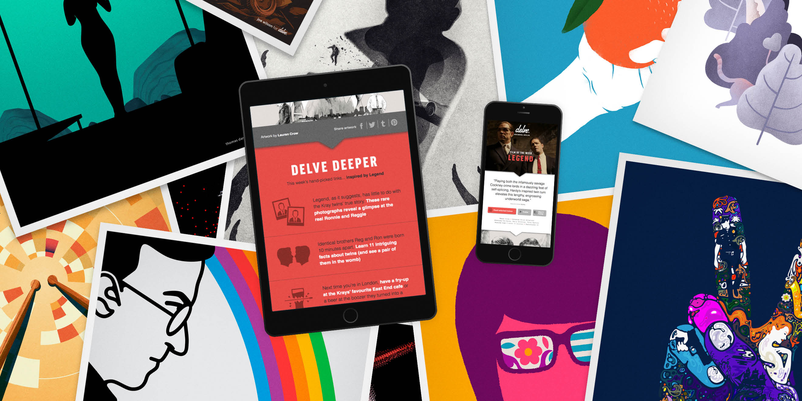 delve weekly digital film service by Human After All design agency