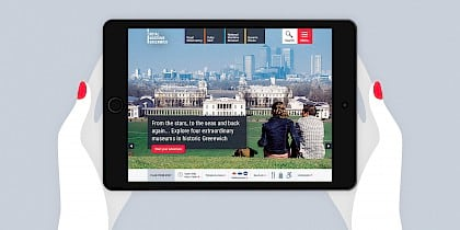 Royal Museums Greenwich website design by Human After All design agency