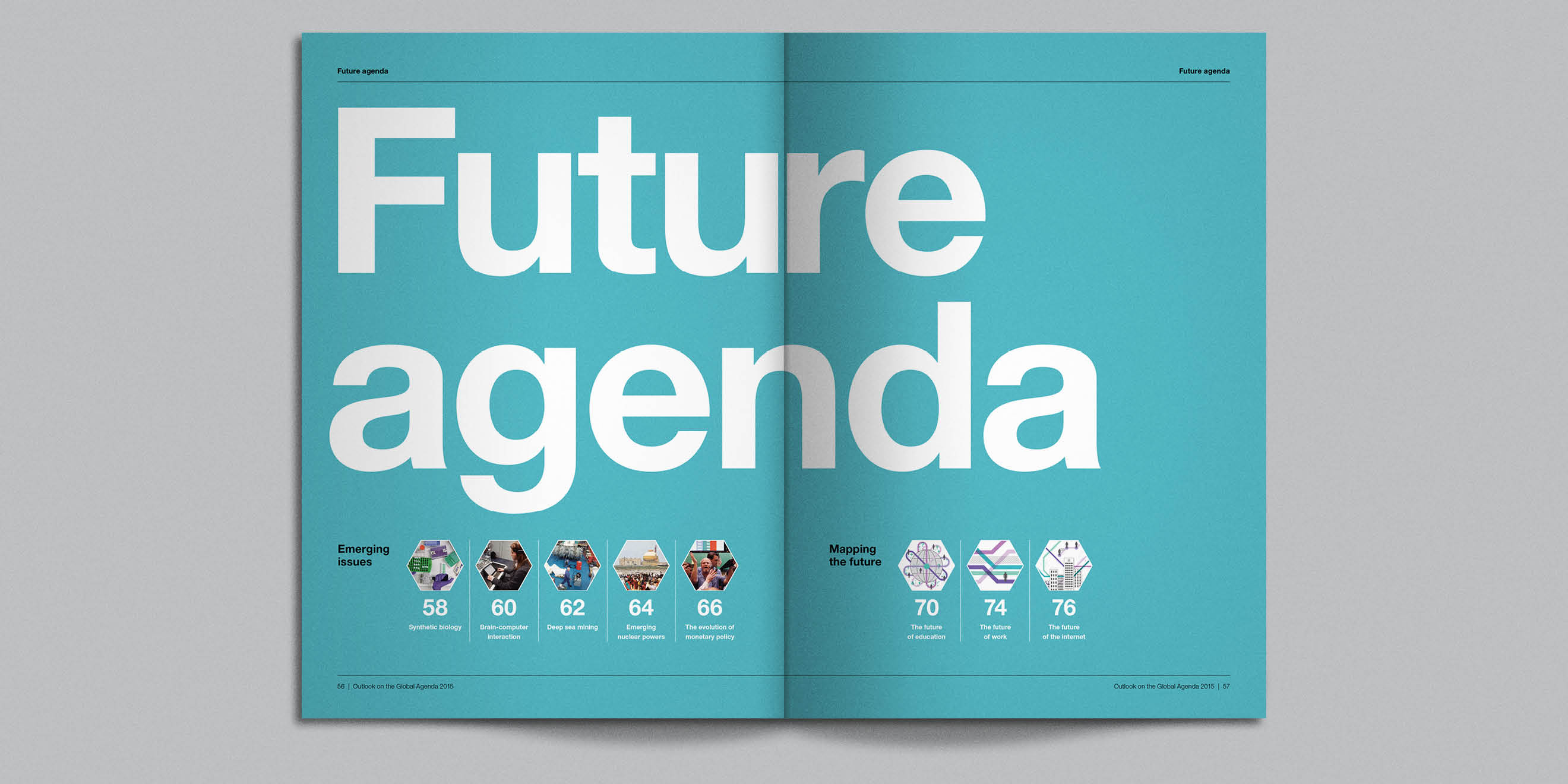 Future agenda spread from WEF: Outlook on the Global Agenda 2015 by Human After All