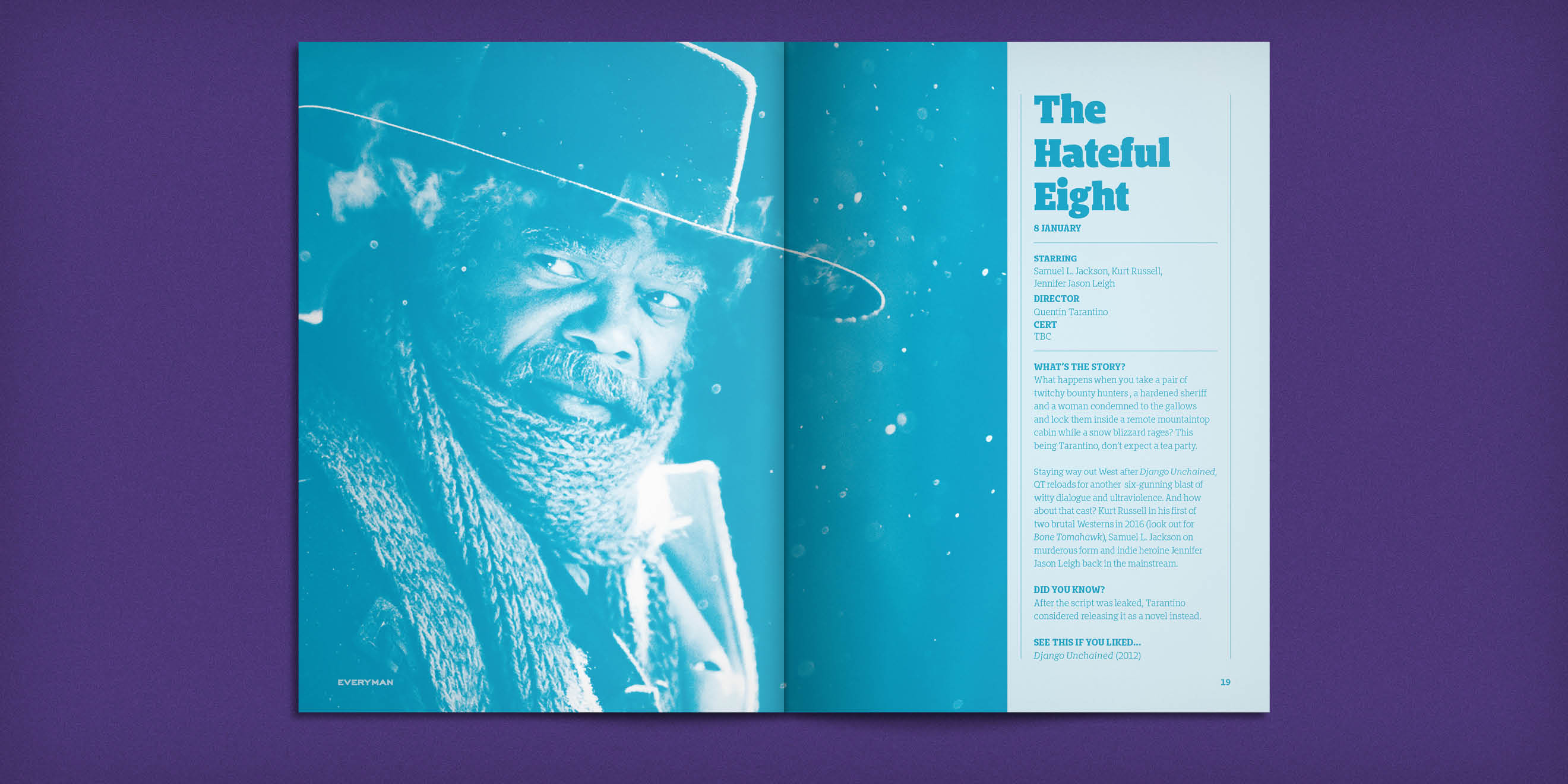 Everyman Cinemas Everyman Magazine - The Hateful Eight spread - by Human After All