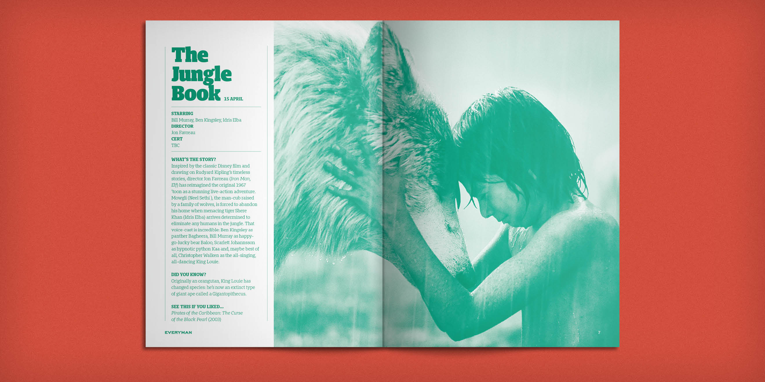 Everyman Cinemas Everyman Magazine - The Jungle Book spread - by Human After All