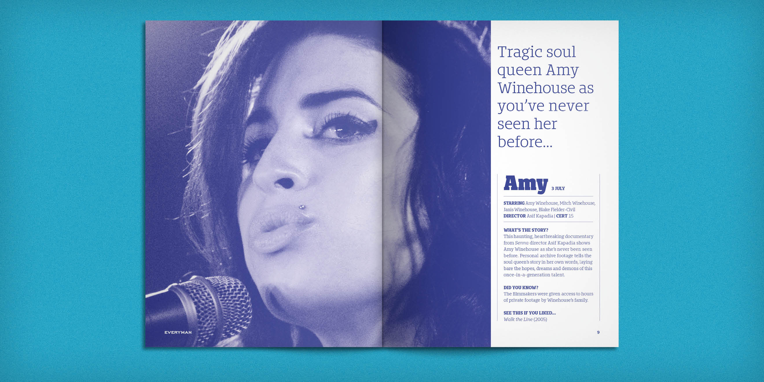 Everyman Cinemas Everyman Magazine - Amy Winehouse spread - by Human After All