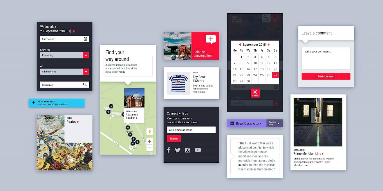 Component & UI design for Royal Museums Greenwich website - image 2