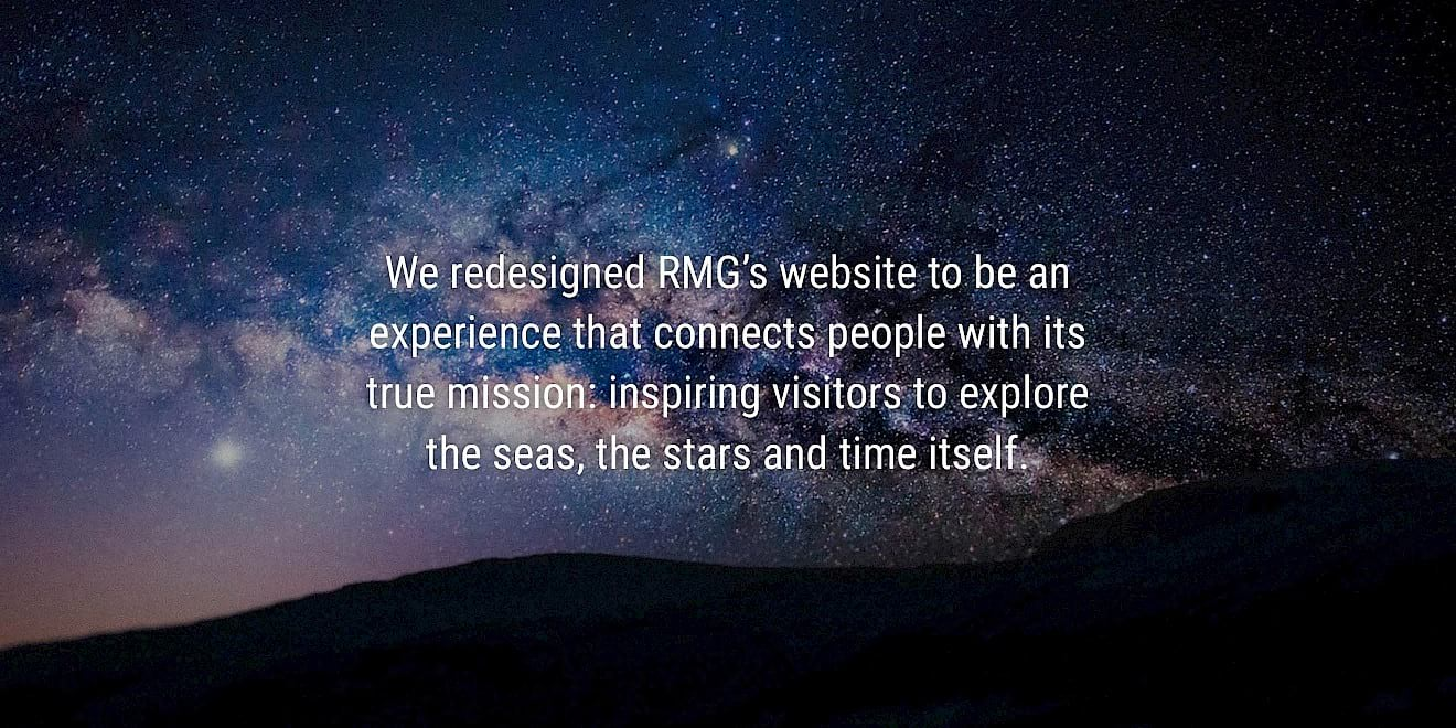 Royal Museums Greenwich website design process quote