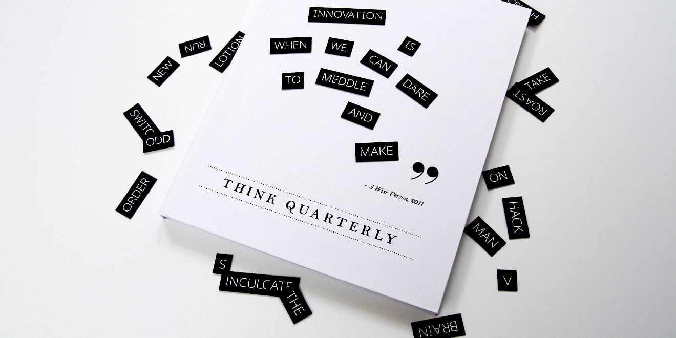 Cover design of Google Think Quarterly: Innovation issue