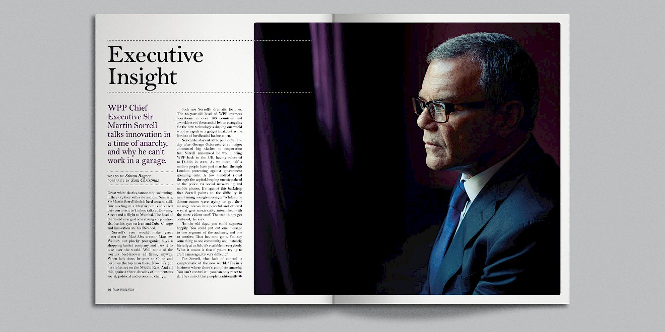 Executive Insight page design from Google Think Quarterly magazine