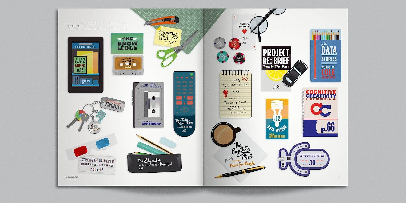 Google Think Quarterly magazine page design
