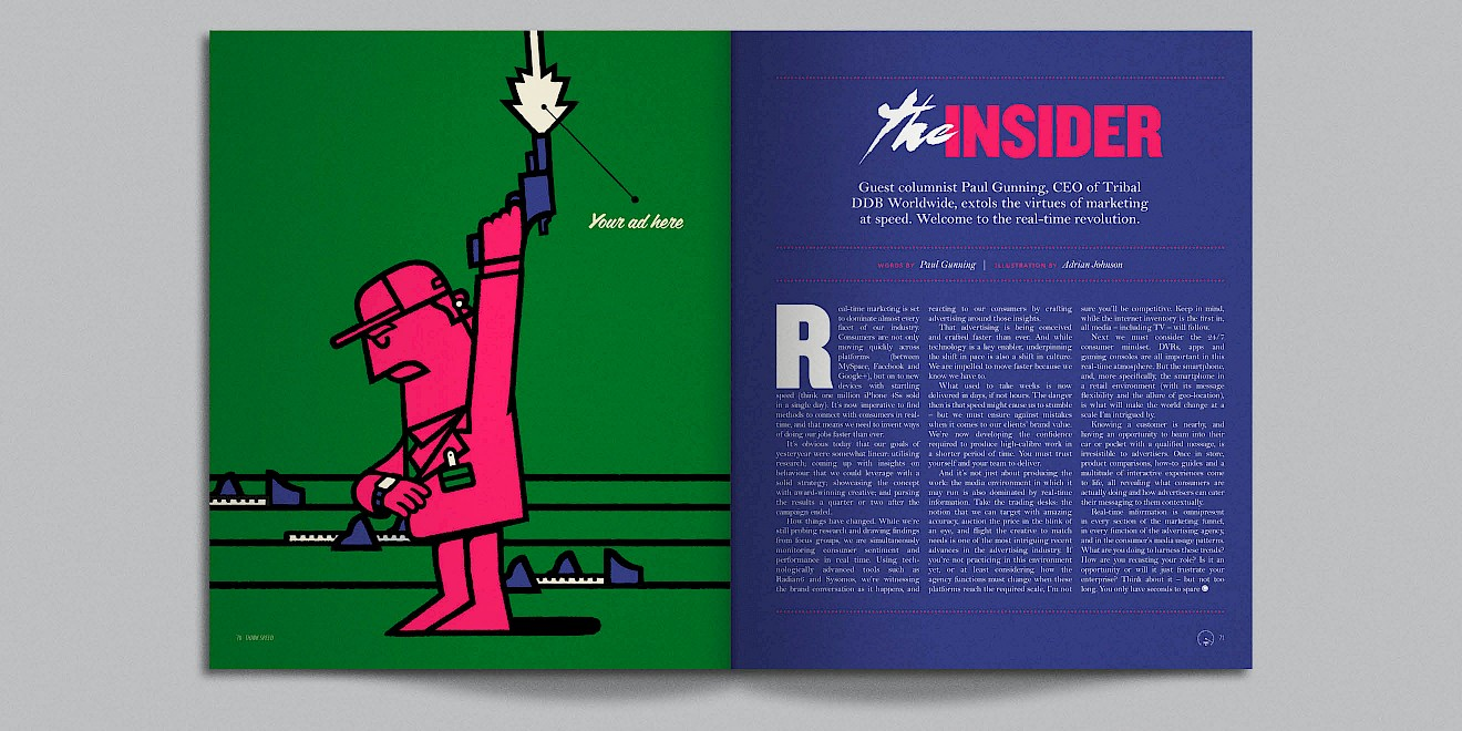 The Insider page design from Google Think Quarterly magazine