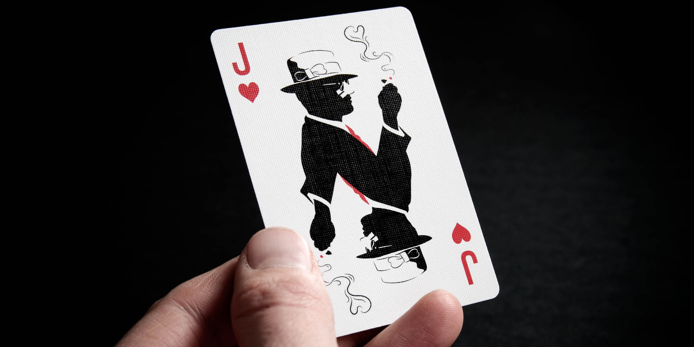 Single playing card showing Chinatown illustration card