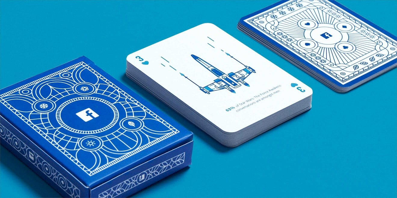 Facebook B2B marketing insights playing cards designed by Human After All