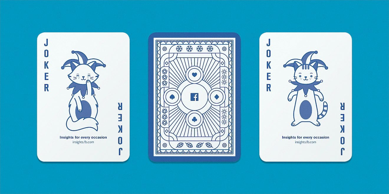 Facebook B2B marketing insights playing cards - Jokers - by Human After All
