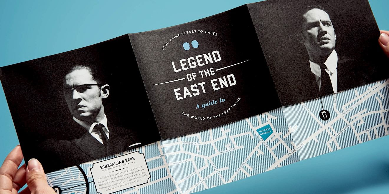 Outside spread of the StudioCanal: Legend of the East End map