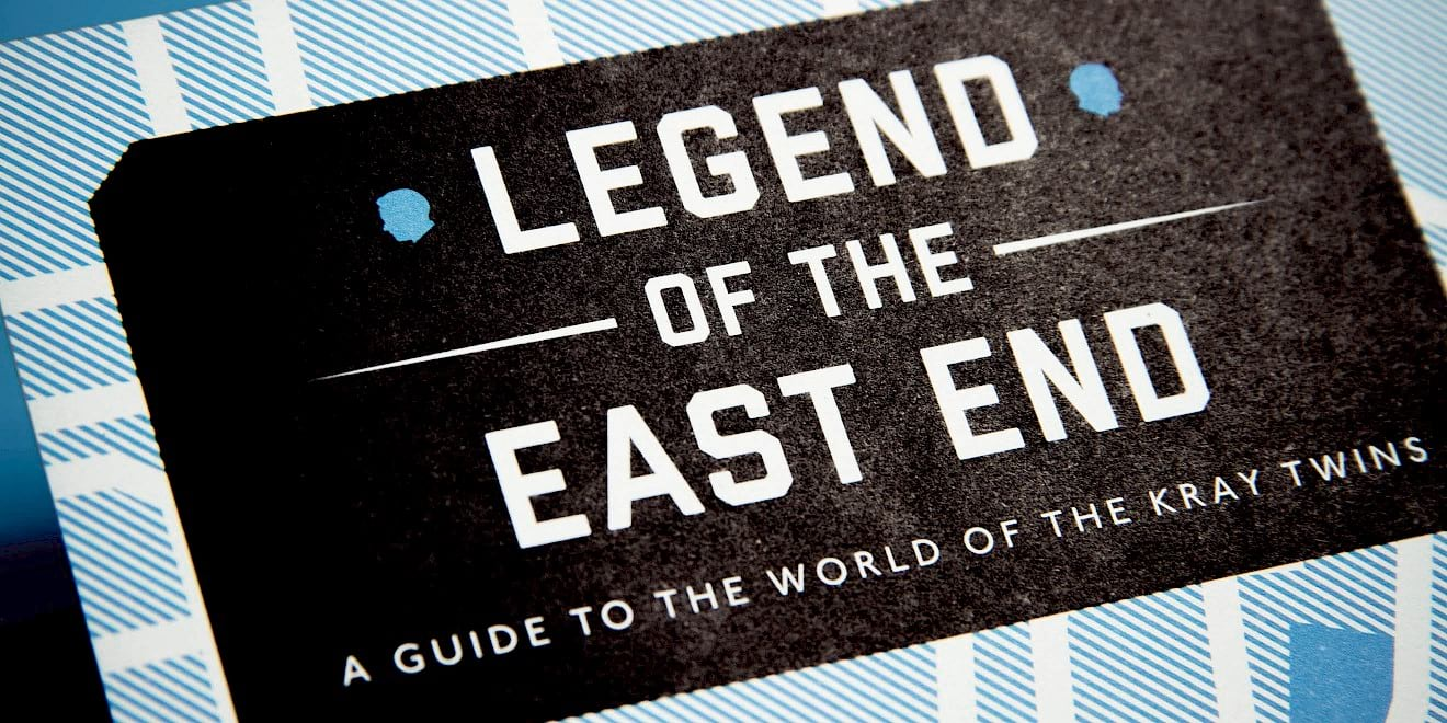 Close up on the title of the StudioCanal: Legend of the East End map