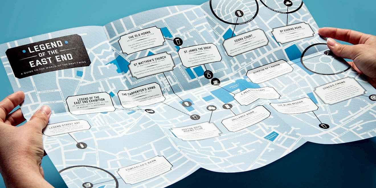 The unfolded StudioCanal: Legend of the East End map