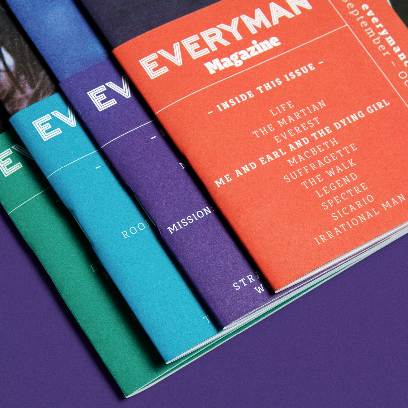 Everyman Cinemas Everyman Magazine - cover overlays - by Human After All