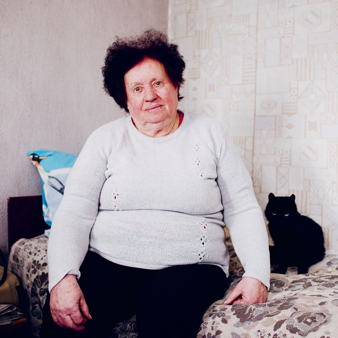 A photograph of one of Ukraine's eldery by Chris Nunn. From Weapons of Reason: The New Old by Human After All