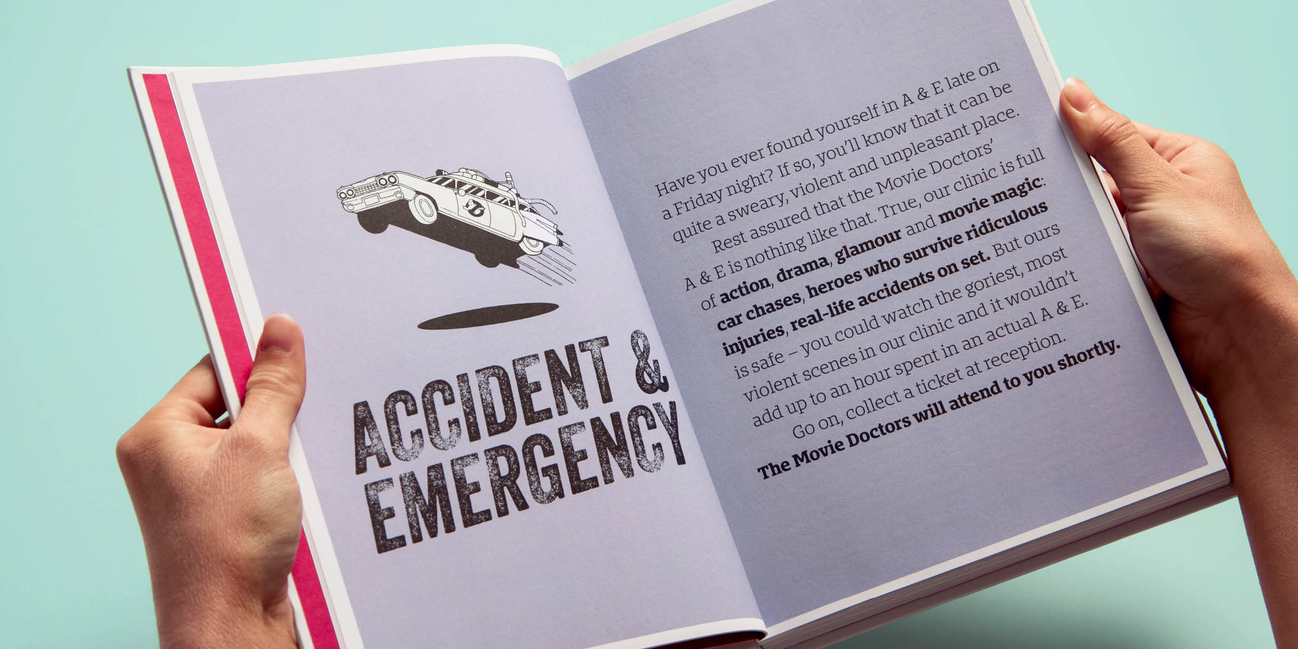 The Movie Doctors 'Accident & Emergency' page design