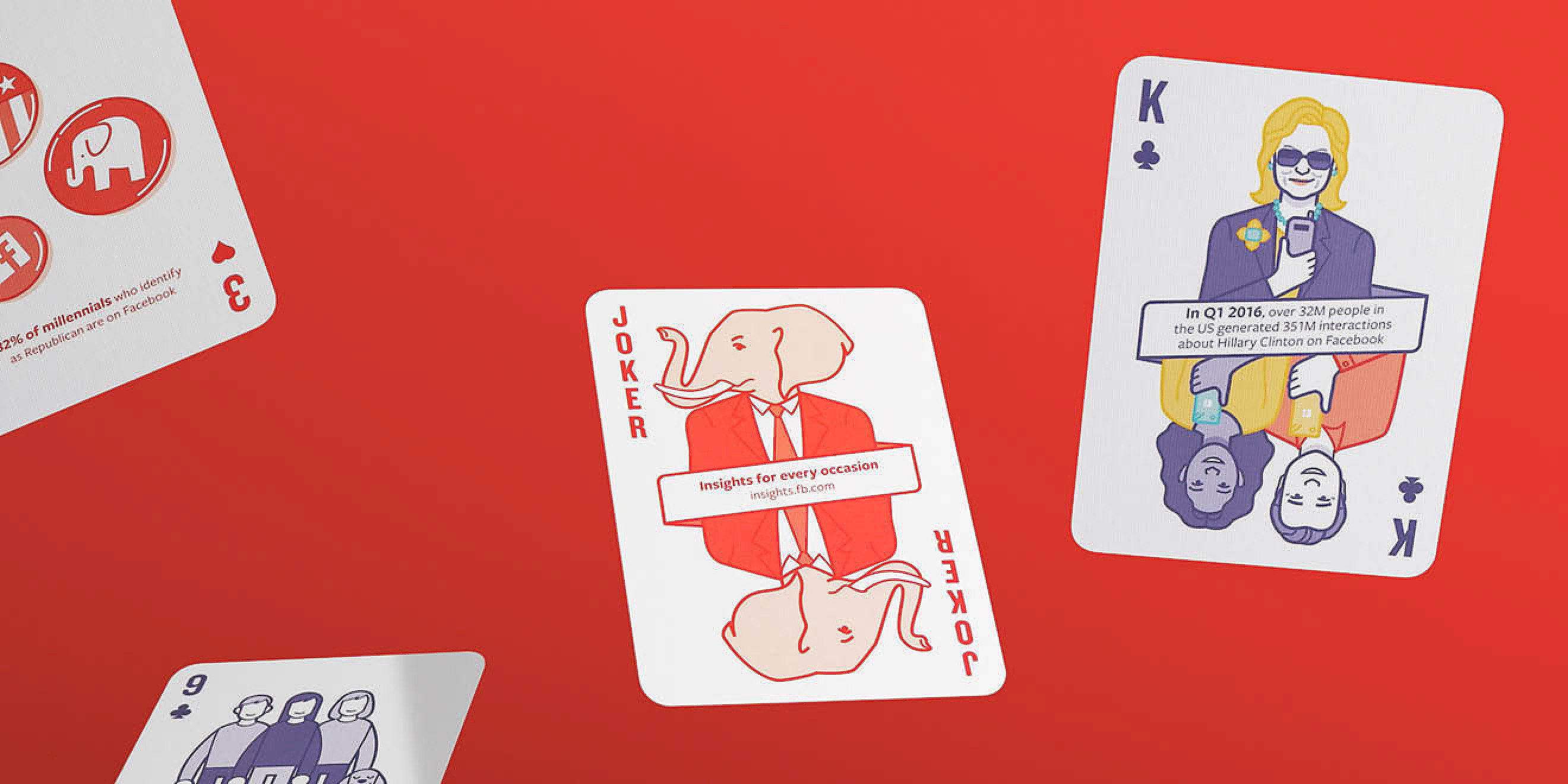 Facebook Politics Playing Cards by Human After All