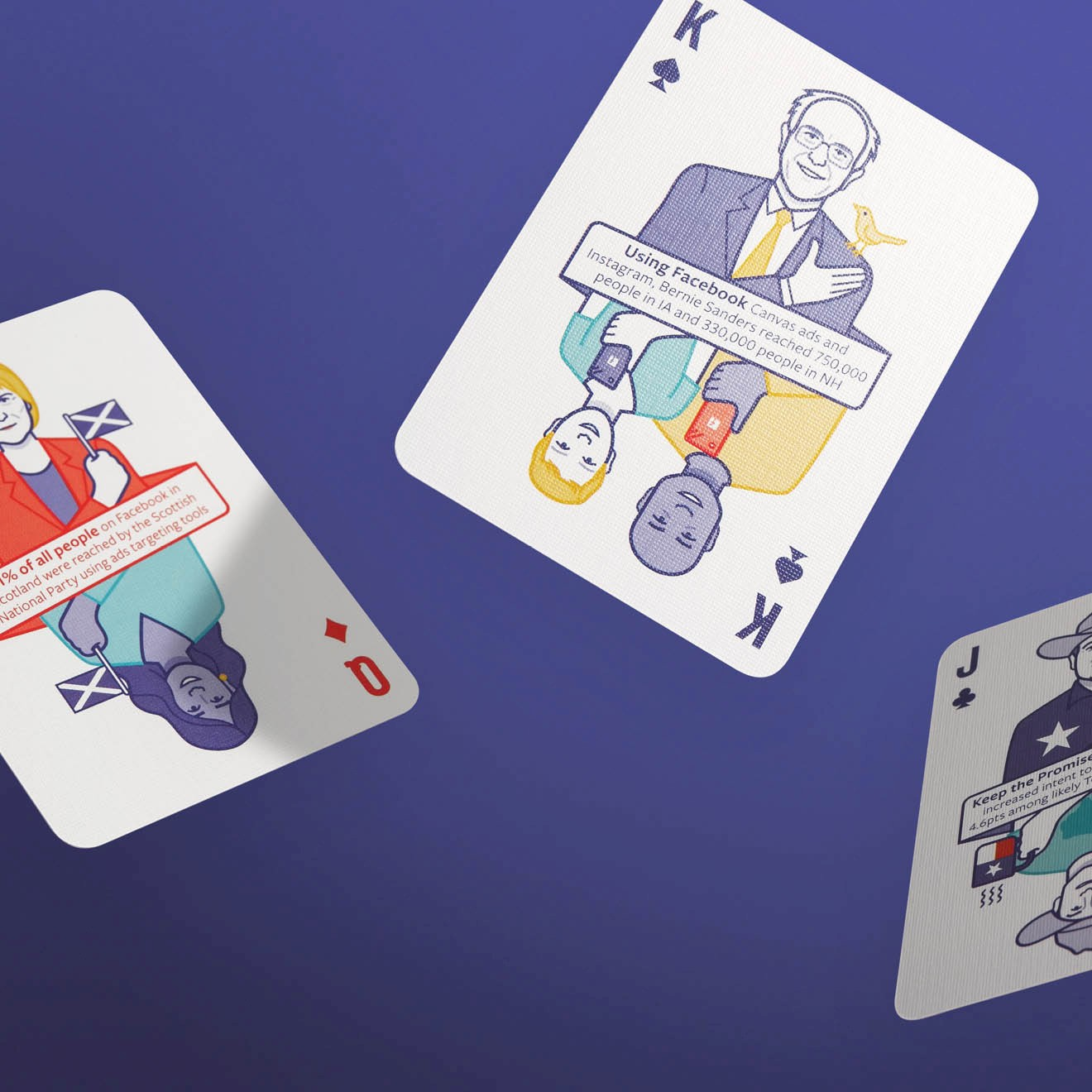 Facebook 2016 US Elections Playing Cards