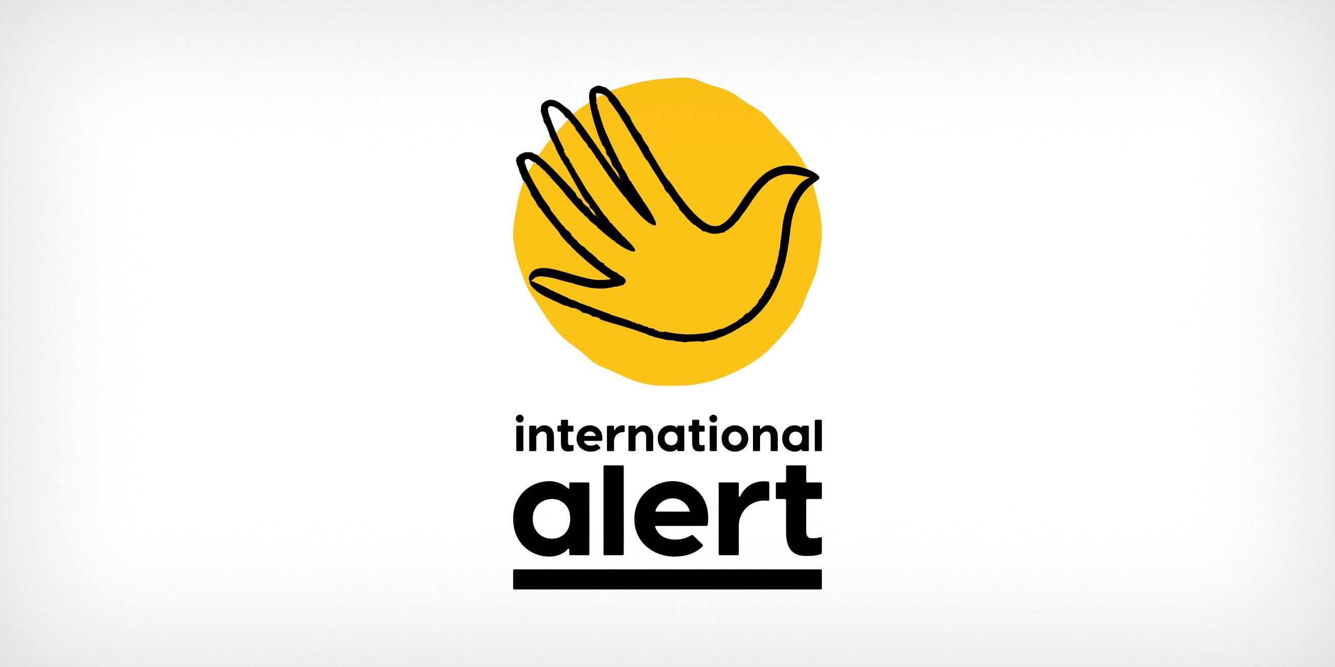 International Alert brand identity logo by Human After All