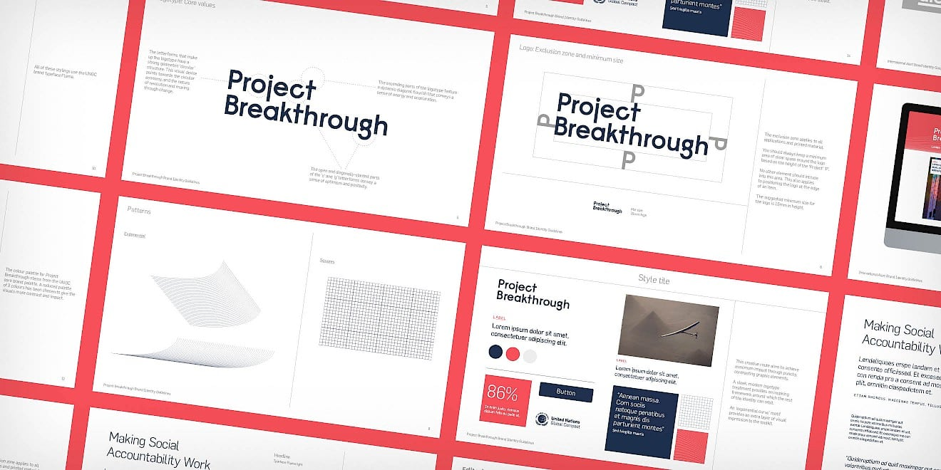 Volans Project Breakthrough brand identity guidelines