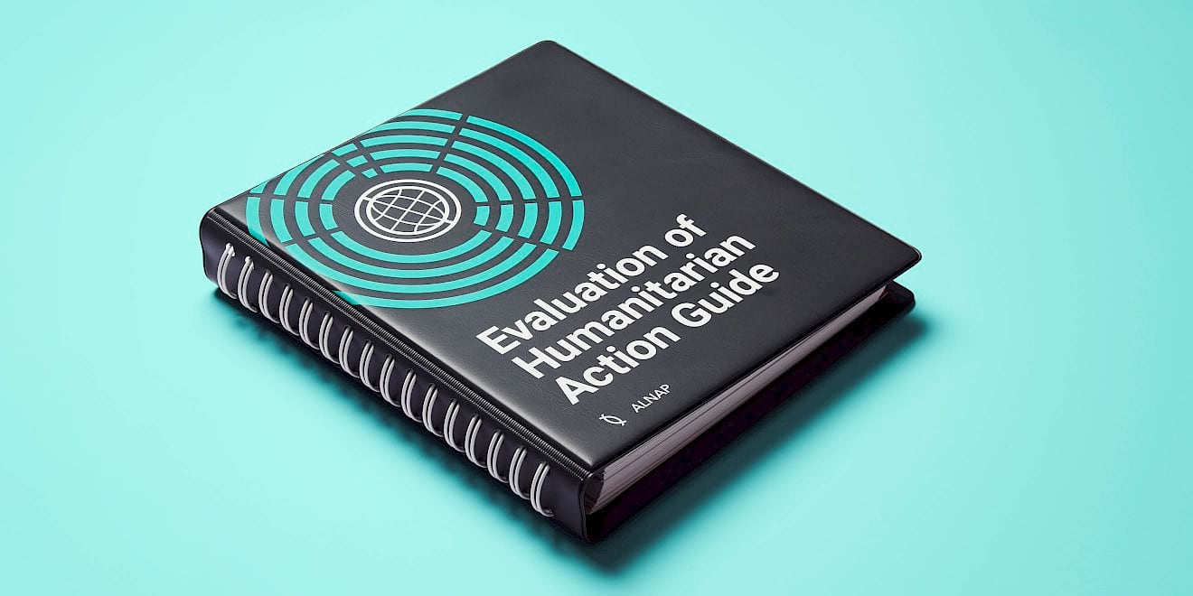 ALNAP Evaluation of Humanitarian Action Guide by Human After All design agency