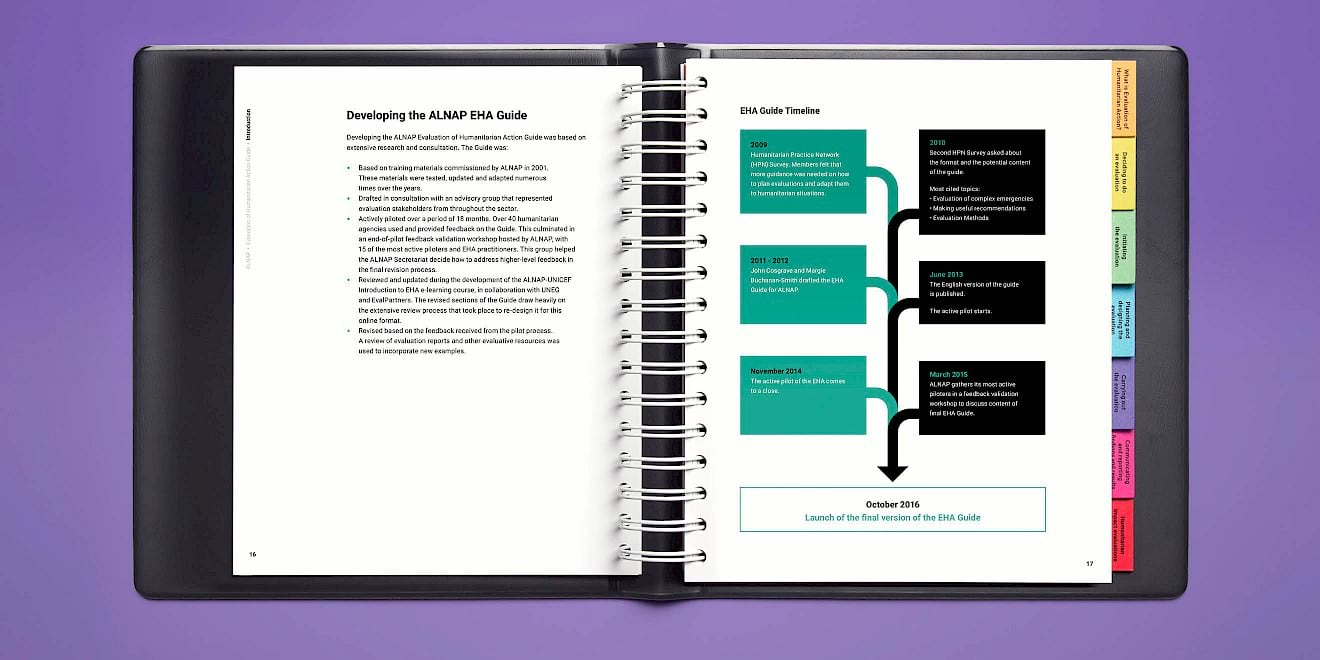 Page layout design - ALNAP Evaluation of Humanitarian Action Guide - image 1