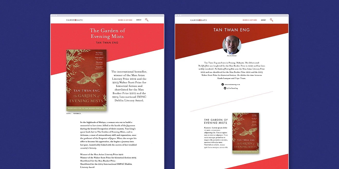 Author and book page design