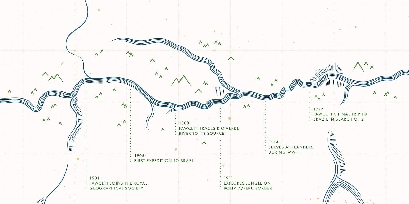 StudioCanal Lost City of Z map designs