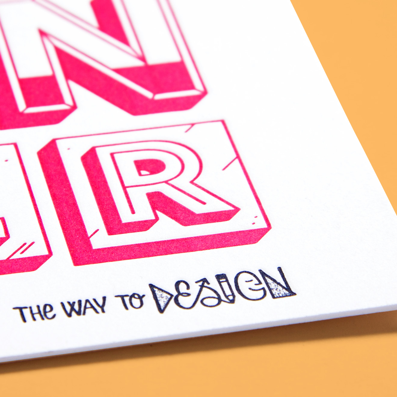 The Way To Design typography design