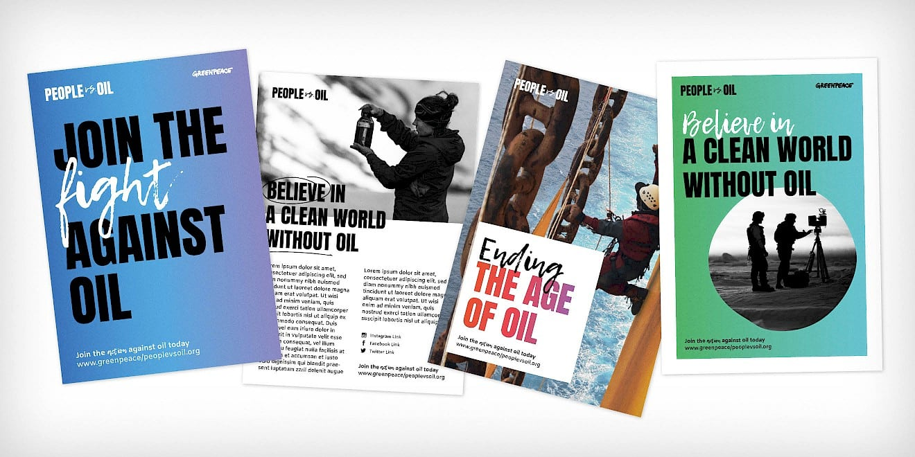 Greenpeace People vs. Oil campaign flyers