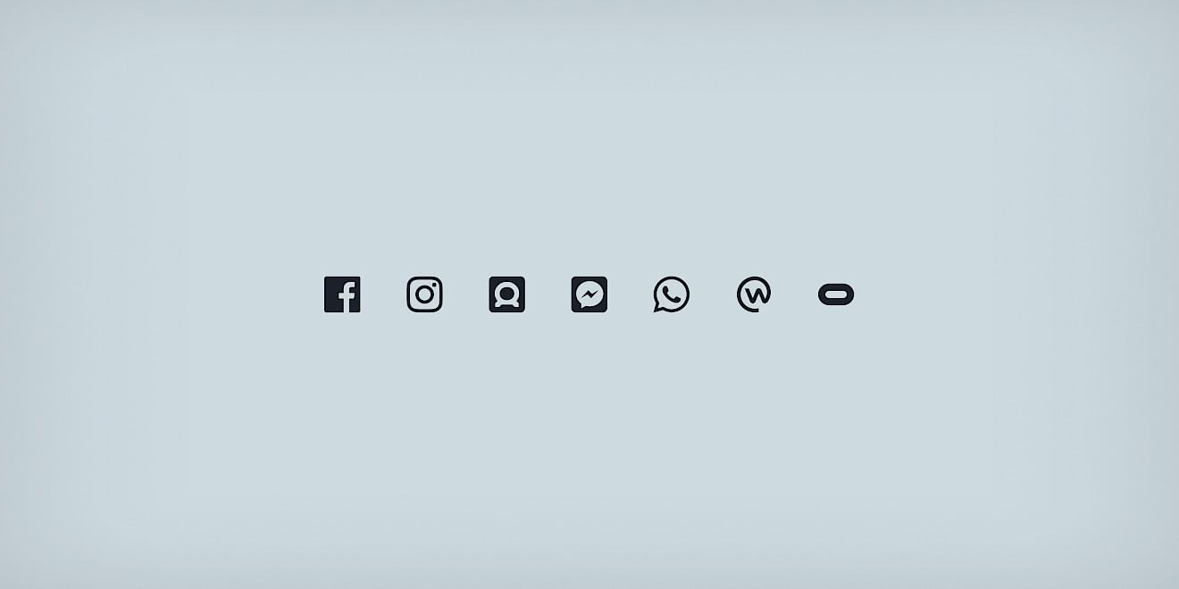 Facebook Business Brand Architecture logo design platform icons by Human After All