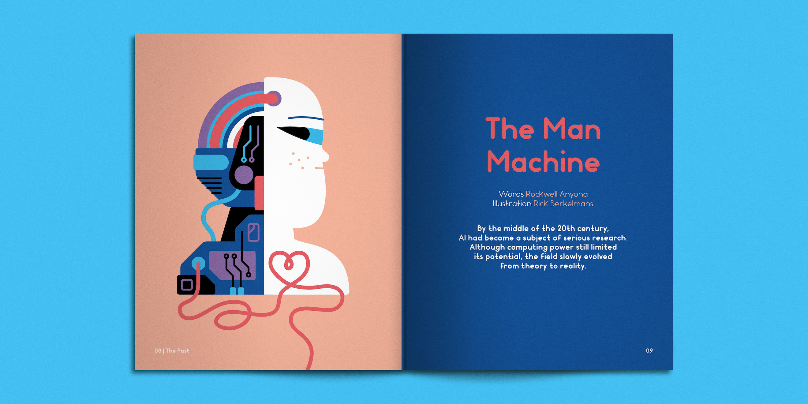 Spread from Weapons of Reason magazine: The AI issue